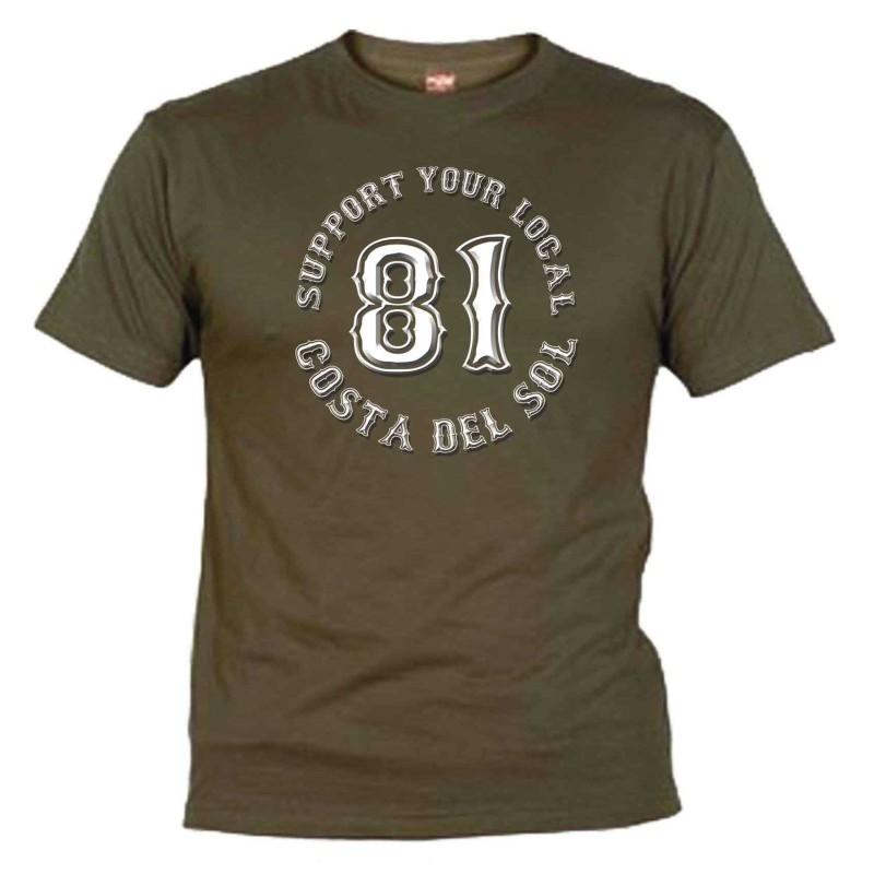 Support 81 Khaki T-Shirt Costa del Sol