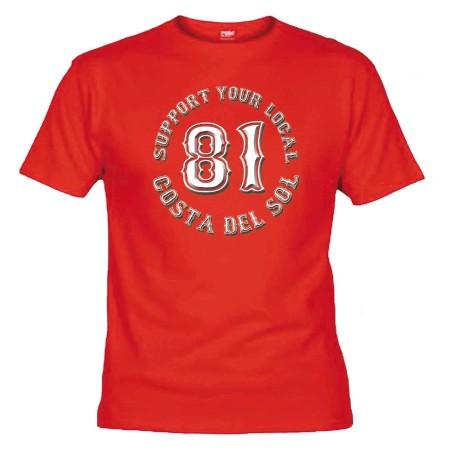 Hells Angels Support 81 Red T-Shirt Costa del Sol