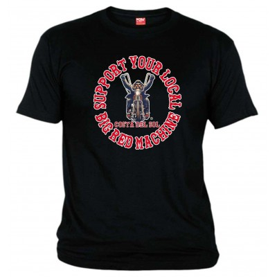 Hells Angels Biker Black T-Shirt Support81 Costa del Sol