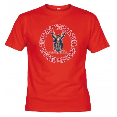 Hells Angels Biker Rosso T-shirt Support81 Costa del Sol