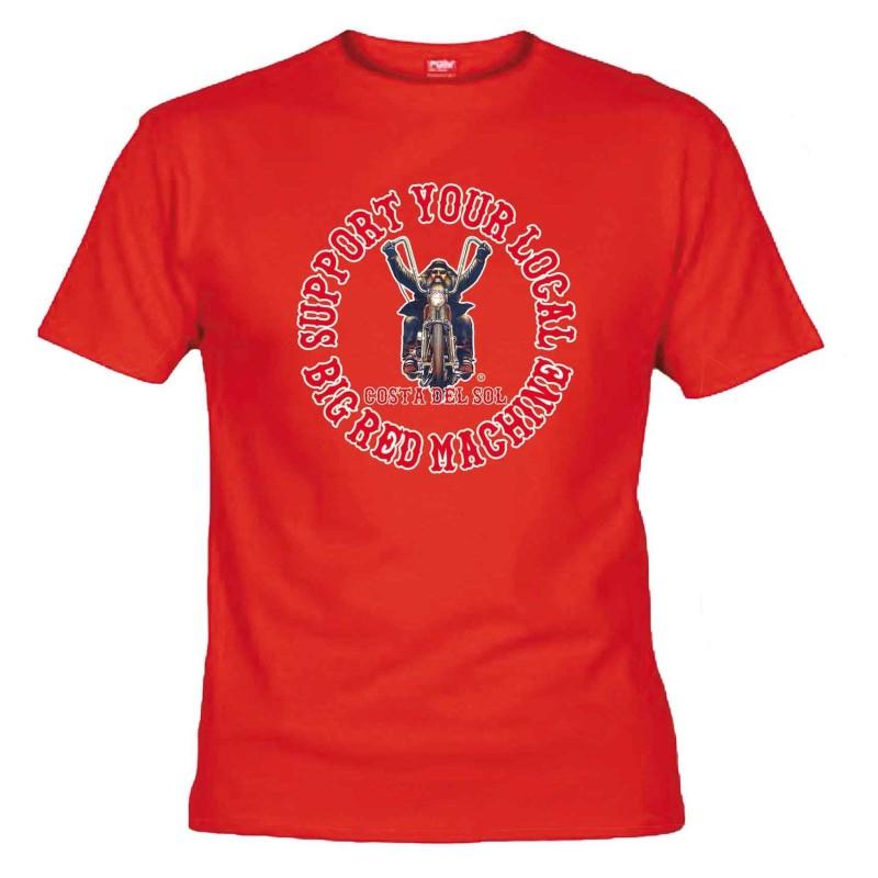 Biker Red T-Shirt Support81 Costa del Sol