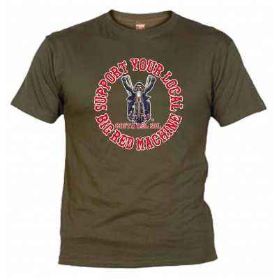 Hells Angels Biker Khaki T-Shirt Support81 Costa del Sol