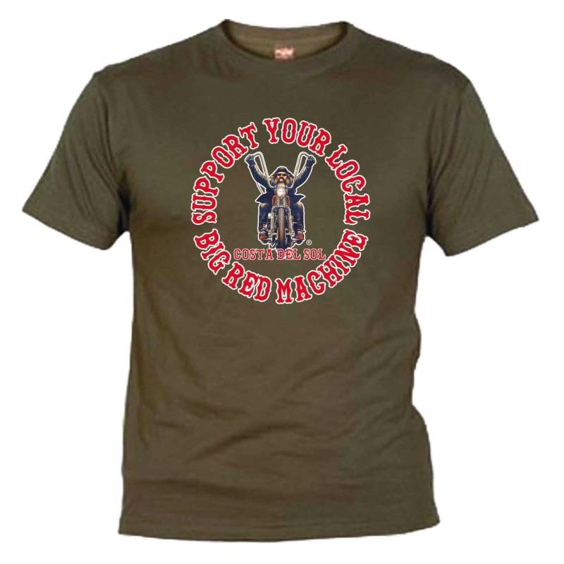 Biker Khaki T-Shirt Support81 Costa del Sol
