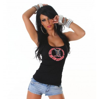 Biker Costa Del Sol ladies singlet