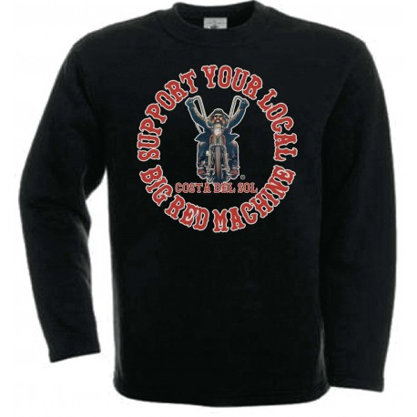 Biker Support81 Costa del Sol Sweater Black