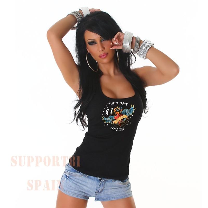 Heart Tattoo Support 81 Ladies Tanktop / Singlet