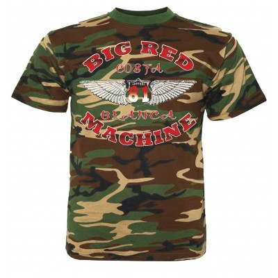 Hells Angels Wings Camo T-Shirt Support81 Big Red Machine
