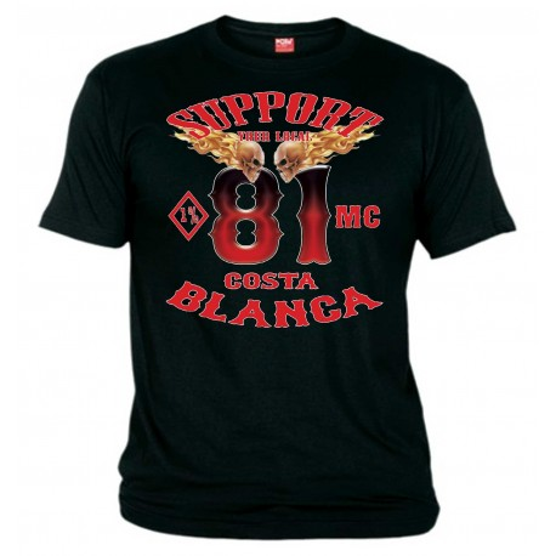 1%MC T-Shirt Support81 Big Red Machine
