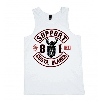 Biker White Singlet Support81 Big Red Machine 1% Hells Angels™