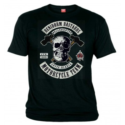 Hells Angels Benidorm Bastards T-Shirt Support81 Big Red Machine