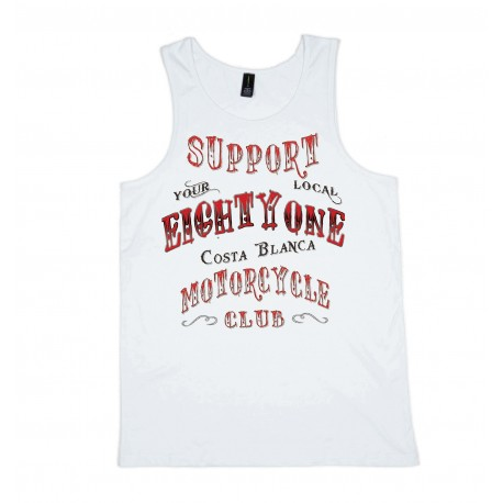 EightyOne White Singlet Support81 Big Red Machine Hells Angels™