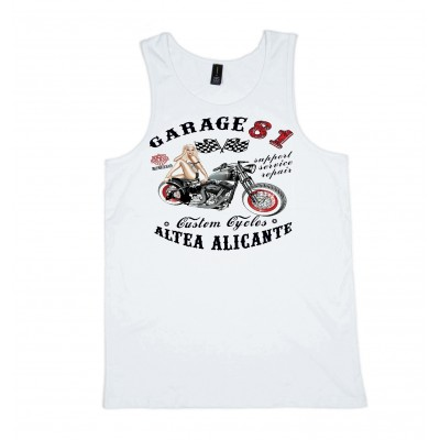 Hells Angel Garage81 Altea Alicante White Singlet