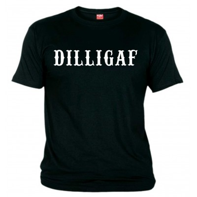 Hells Angel DILLIGAF Support81 Black T-Shirt