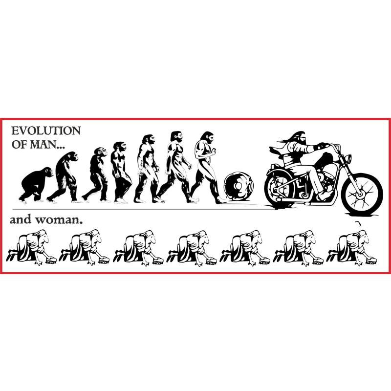 Hells Angels Support 81 sticker EVOLUTION OF MAN
