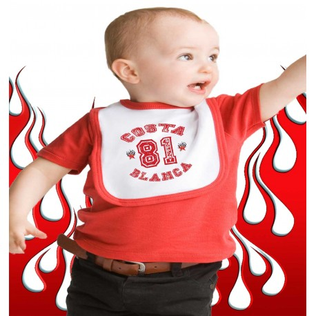 Baby Bib Support 81 Costa Blanca Hells Angels College