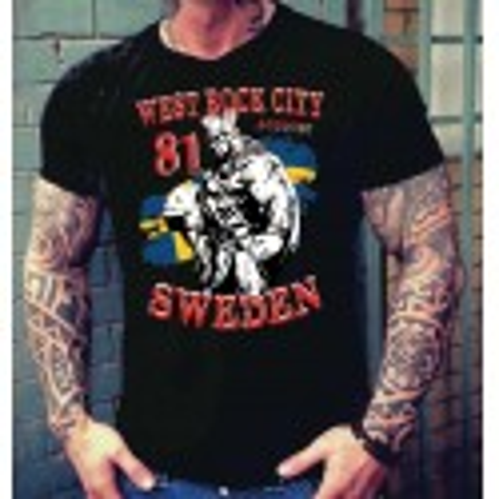 Hells Angels Sweden Thor West Rock City Support81 Black T-Shirt