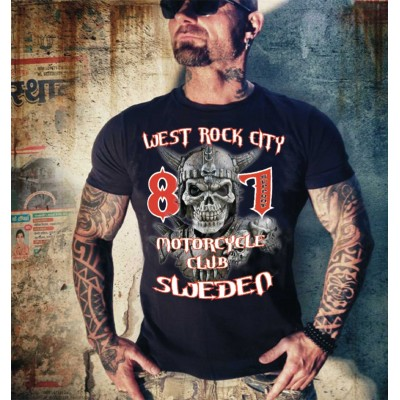 Hells Angels Martillo West Rock City Support81 Black camiseta