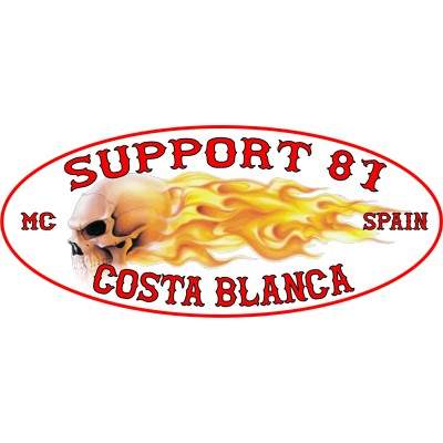 Hells Angels adhesivo Support 81 Costa Blanca Flames