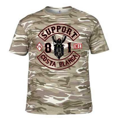 Hells Angels Biker Camo Desert Storm T-Shirt Support 81 Big Red Machine