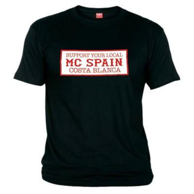 Hells Angels Costa Blanca Support81 Black T-Shirt