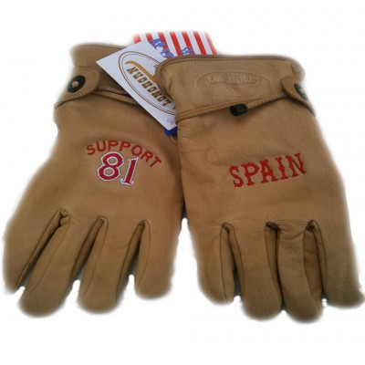 Guantes de Piel Support 81 Costa Blanca Spain Marron
