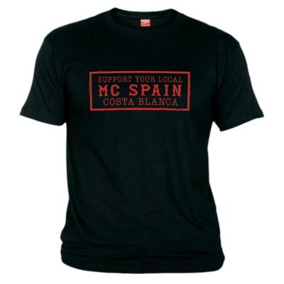 Hells Angels Costa Blanca Support81 Black T-Shirt red printHells Angels Costa Blanca Support81 Black T-Shirt