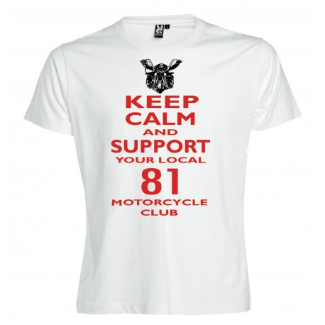 Hells Angels Keep Calm Support81 Red T-Shirt